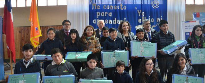 •Iniciativa permite a los escolares y sus familias acortar brechas sociales y geográficas permitiéndoles acceder desde cualquier punto a la gran aldea global.