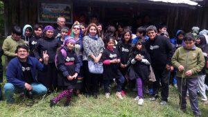 •El objetivo de la actividad fue reencontrar a los niños y jóvenes de los diferentes establecimientos con sus raíces ancestrales.